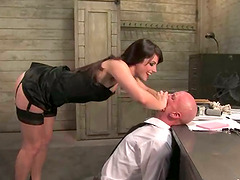 Bald Guy Dominated by Cock Riding Vixen Bobbi Starr